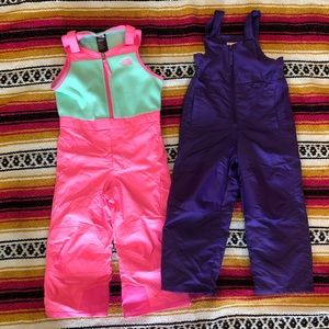 The North Face girls 4t snow bibs